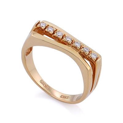 Золотое кольцо с бриллиантами 4 г SLV-21139