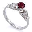 Золотое кольцо с рубином и бриллиантами SLV-2168B весом 2.52 г  стоимостью 35400 р.