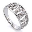 Золотое кольцо с бриллиантами SLV-21719 весом 3.72 г  стоимостью 37800 р.