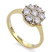 Золотое кольцо с бриллиантами SLV-403 весом 2.65 г  стоимостью 72000 р.