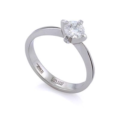 Золотое кольцо с бриллиантами 2.13 г SLV-420