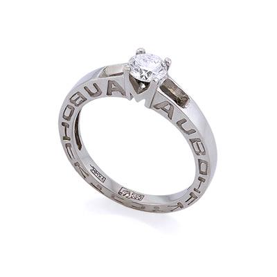 Золотое кольцо с бриллиантами 3.15 г SLV-400