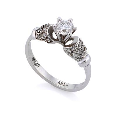 Золотое кольцо с бриллиантами 2.7 г SLV-249