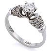 Золотое кольцо с бриллиантами SLV-249 весом 2.7 г  стоимостью 153000 р.