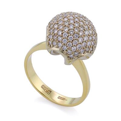 Золотое кольцо с бриллиантами 5 г SLV-433