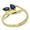 Золотое кольцо с сапфирами SL-0107-235 весом 2.35 г  стоимостью 14800 р.