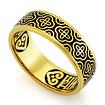 Серебряное кольцо с эмалью «Господи, спаси и сохрани мя» KPSZE001-3 весом 4.61 г  стоимостью 3460 р.