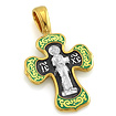 Серебряный крестик с эмалью