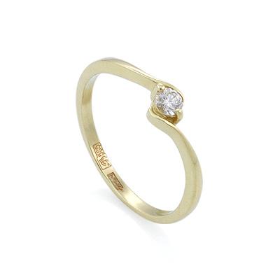 Золотое кольцо с бриллиантами 1.56 г SL-012-160