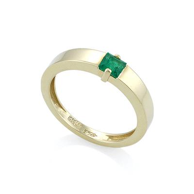 Кольцо с квадратным изумрудом цена