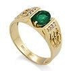 Мужское кольцо с изумрудом / Мужской перстень с изумрудом из золота SL-3001iz-580 весом 5.84 г  стоимостью 62300 р.