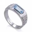 Мужское кольцо с аквамарином / Мужской перстень с аквамарином  SL-6191-698 весом 6.97 г  стоимостью 47500 р.