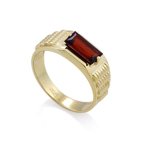 Золотой мужской перстень с гранатом / Мужское кольцо с гранатом из золота 6.73 г SL-6190-673