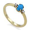 Золотое кольцо с бриллиантами и бирюзой SL-0117-240 весом 2.4 г  стоимостью 15500 р.