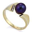 Кольцо с бриллиантами и жемчугом SL-52114-487 весом 4.87 г  стоимостью 33300 р.