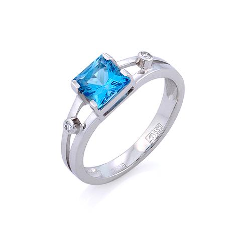 Кольцо с топазом и бриллиантами 3.22 г SL-0147-322