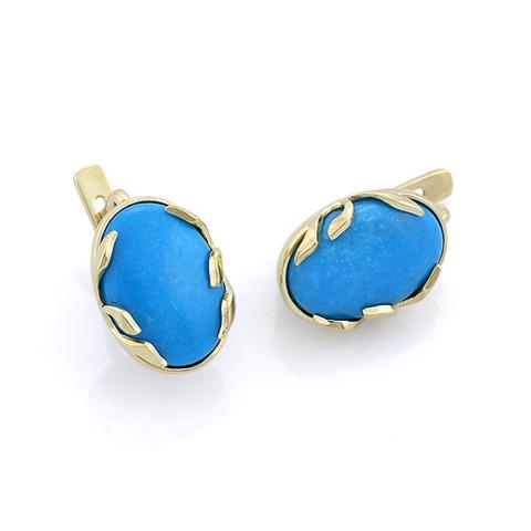 Серьги с голубой бирюзой 5.17 г SL-3842-540