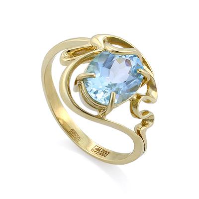 Кольцо с топазом 3.9 г SLK-0280-375