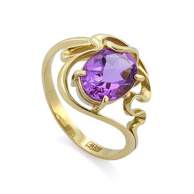 Кольцо с аметистом в золоте 3.86 г SLK-0280-385