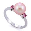 Кольцо с розовыми сапфирами и розовым жемчугом 3.49 г SLY-0202-350