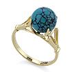 Золотое кольцо с природной бирюзой SL-0259-307 весом 3.12 г  стоимостью 15132 р.