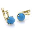 Золотые серьги  с  голубой бирюзой SL-0359-485 весом 5.75 г  стоимостью 27600 р.