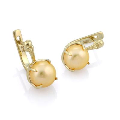 Серьги с золотым жемчугом 5.06 г SL-0359-515
