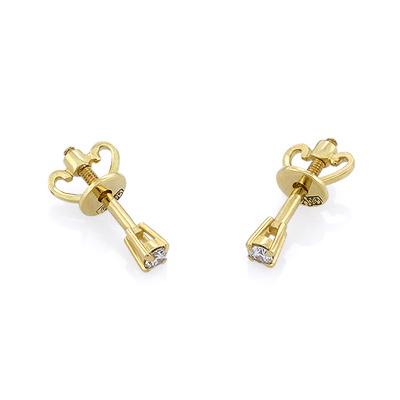 Гвоздики с бриллиантами из желтого золота 0.98 г SL-1007-098