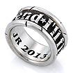 Мужское кольцо из серебра «Metallica» SLY-0104 весом 12 г  стоимостью 15000 р.