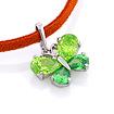 Серебряная подвеска «Бабочка» с зелеными фианитами SL-3042-295 весом 2.97 г  стоимостью 2950 р.
