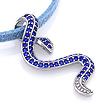 Серебряная подвеска «Змейка» с синими фианитами SL-3466-320 весом 3.11 г  стоимостью 3200 р.