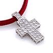 Подвеска из серебра в форме креста украшенная фианитами SL-3472-290 весом 2.9 г  стоимостью 2800 р.