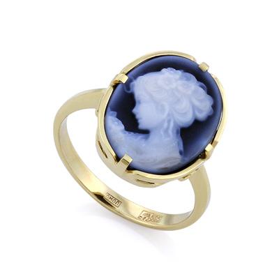 Золотое кольцо с камеей 4.07 г SLK-0285-450