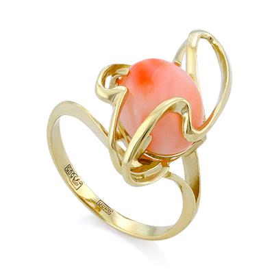 Кольцо с розовым кораллом 4.38 г SL-2845-440