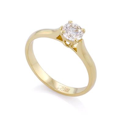 Золотое кольцо с бриллиантом 0,5 карата 2.37 г SLY-0216-235