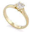 Золотое кольцо с бриллиантом 0,5 карата SLY-0216-235 весом 2.37 г  стоимостью 145000 р.