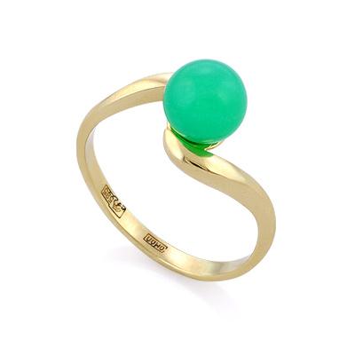 Кольцо с хризопразом (натуральным) 2.44 г SL-0201-250