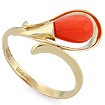 Кольцо с кораллом в желтом золоте SL-2866-280 весом 2.77 г  стоимостью 20775 р.