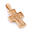 Крестик нательный православный 'Распятие Господа нашего Иисуса Христа, свт. Спиридон Тримифунтский' SLD-001-800 весом 8.5 г  стоимостью 50150 р.