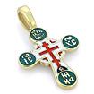 Нательный крести золотой с эмалью SLD-502-475 весом 4.8 г  стоимостью 39000 р.