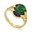 Золотое кольцо с черным опалом SL-2842-360 весом 3.6 г  стоимостью 16200 р.