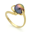 Золотое кольцо с черным жемчугом SL-2133-392 весом 3.9 г  стоимостью 17160 р.
