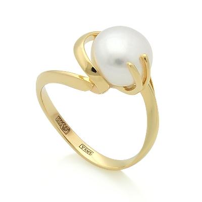 Кольцо с белым жемчугом 3.9 г SL-2133-391