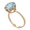 Кольцо с топазом (голубым) 2.2 г SV-0490-320
