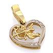 Подвеска с бриллиантами в форме сердца