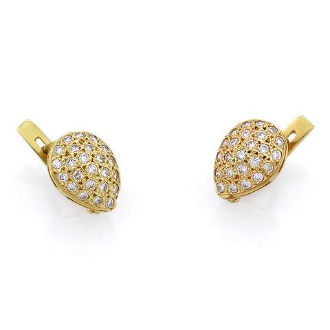 Золотые серьги с бриллиантами 3.32 г SLV-S277G