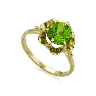Кольцо с хризолитом  3.1 г SL-0221-310