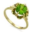 Кольцо с хризолитом (натуральным) 3.1 г SL-0221-310