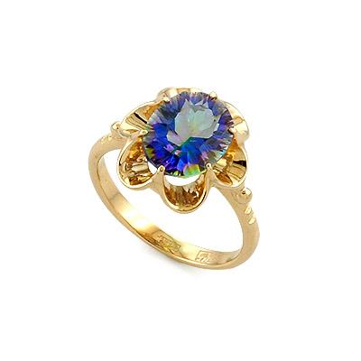 Кольцо с хрусталем мистик 3.4 г SL-0223-224