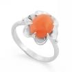 Серебряное кольцо с кораллом SL-0223-315 весом 3.15 г  стоимостью 1800 р.
